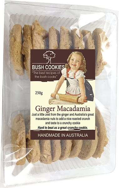 Ginger Macadamia Biscuits from Bush Cookies