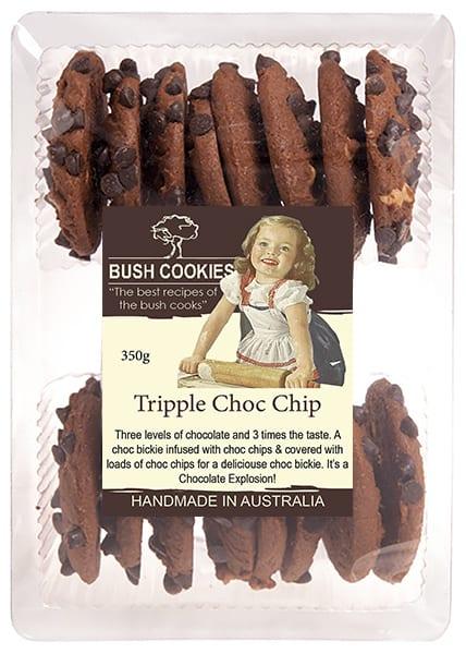 Triple Choc Chip Cookies by Bush Cookies