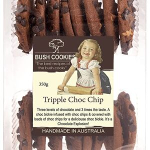 Triple Chocolate Chip Cookies from Bush Cookies 250g