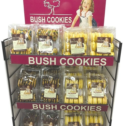 Bush Cookies - Display stand -close up