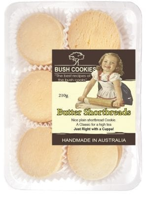 Butter Shortbread Biscuits from Bush Cookies