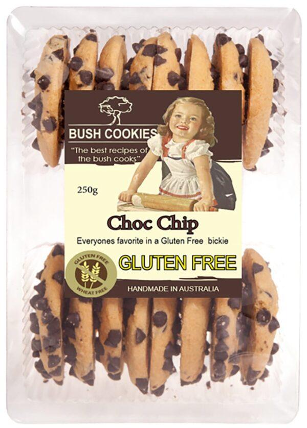 Chocolate Chip Cookies GLUTEN FREE 250g  Bush Cookies