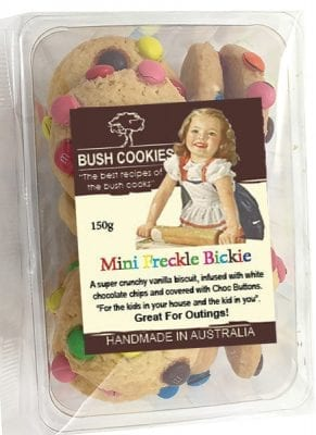 Mini Freckle Bickies 120g Pack from Bush Cookies